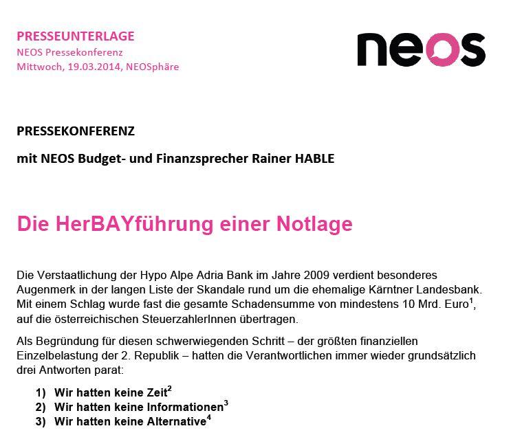 Neos Hypo