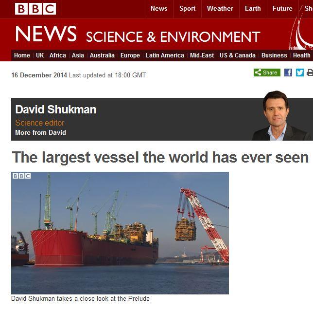Largest vessel ever built