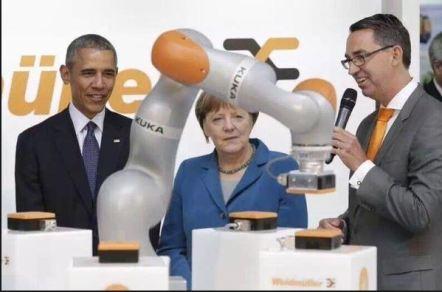 Kuka Merkel Obama