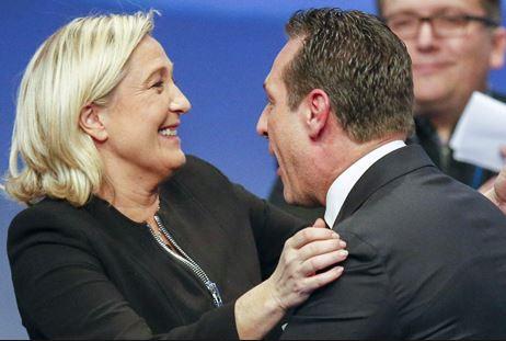 Strache Le Pen