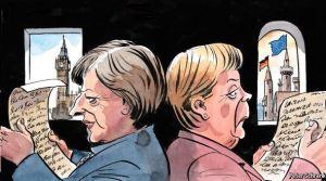 May Merkel reading letters
