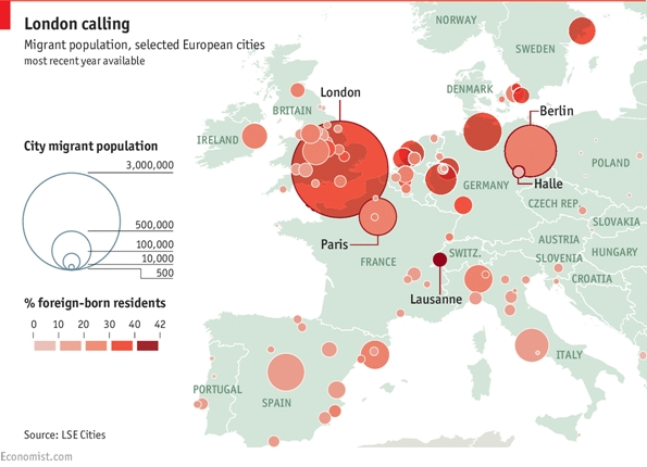 Migrant Population European Cities